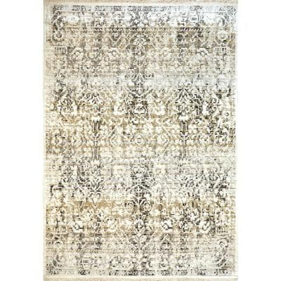 Avery Ivory/Grey 5 ft. 3 in. x 7 ft. 7 in. Indoor Area Rug