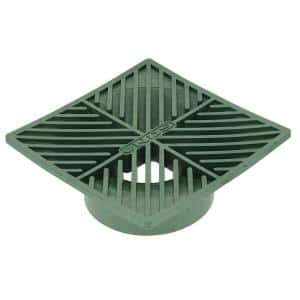 6 in. Plastic Square Drainage Grate in Green
