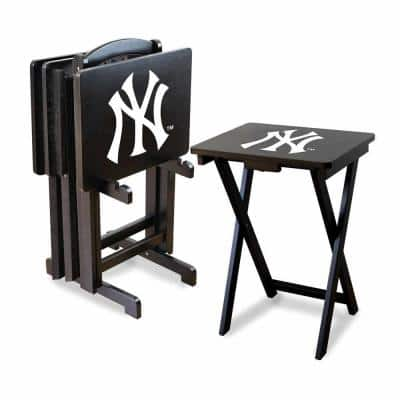 New York Yankees 4-TV Tray and Stand Set