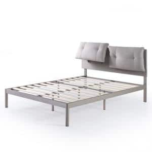 Avery Beige King Platform Bed with Reclining Headboard