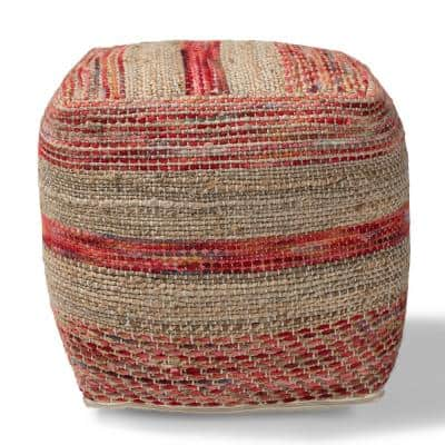 Caiman Multi and Natural Pouf Ottoman