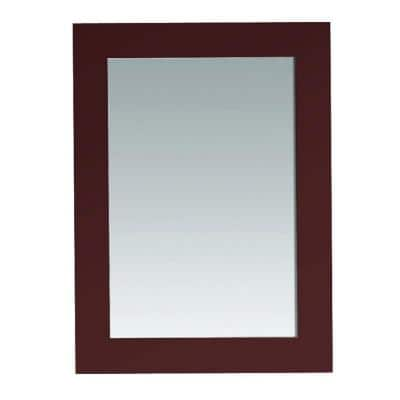 Wood Bathroom Mirrors Bath The Home Depot