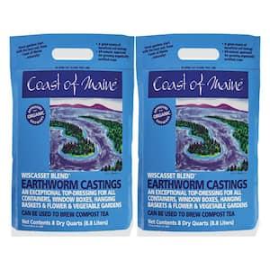 Wiscasset Blend Earthworm Potting Soil, 8 Qt. Bag (2-Pack)
