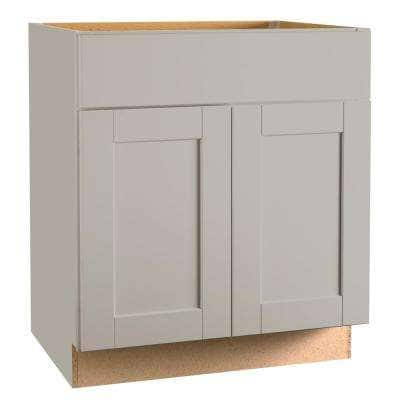 Shaker Assembled 30x34.5x24 in. Base Kitchen Cabinet with Ball-Bearing Drawer Glides in Dove Gray