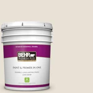 Behr Premium Plus 5 Gal Yl W05 Swiss Coffee Eggshell Enamel Low Odor Interior Paint And Primer In One 205005 The Home Depot