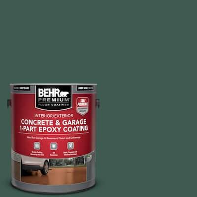 1 gal. #PPF-02 Patio Green Self-Priming 1-Part Epoxy Satin Interior/Exterior Concrete and Garage Floor Paint
