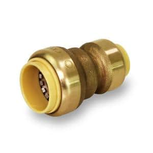 3/4 in. x 1/2 in. Push to Connect Reducing Coupling Pipe Fitting, for PEX, Copper and CPVC Piping