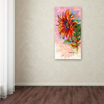 """47 in. x 24 in. """"Wcsk Sunflower"""" by Marion Rose Printed Canvas Wall Art"""