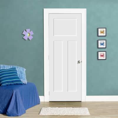 30 in. x 80 in. Craftsman Primed Smooth Molded Composite MDF Interior Door Slab