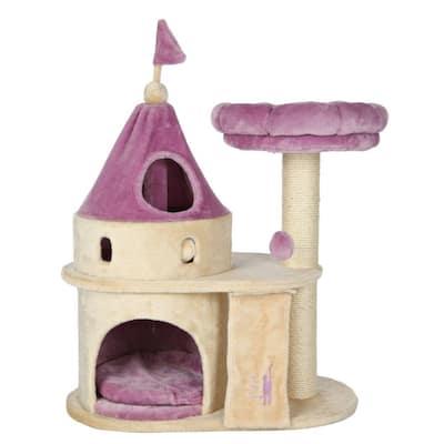 Beige/Purple My Kitty Darling Cat Castle