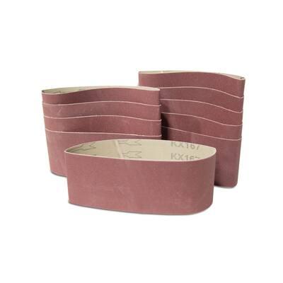 80-Grit 3 x 21-Inch Sanding Belt Sandpaper (10 Pack)