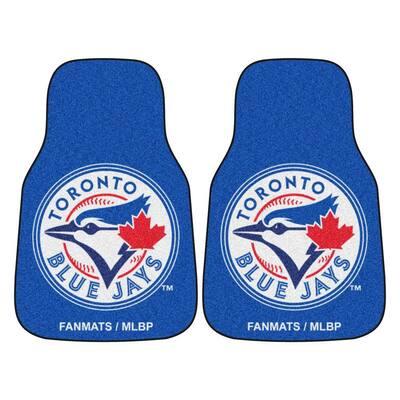 MLB - Toronto Blue Jays 2-Piece 18 in. x 27 in. Carpet Car Mat