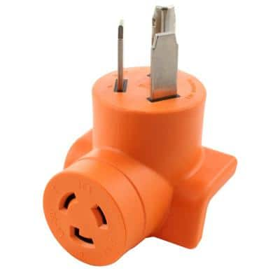 30 Amp 3-Prong 10-30P Dryer Plug to L6-20R 20 Amp 250-Volt Locking Female Adapter