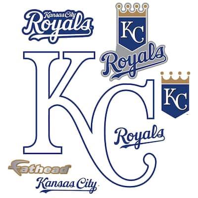 39 in. H x 39 in. W Kansas City Royals Alternate Logo Wall Mural
