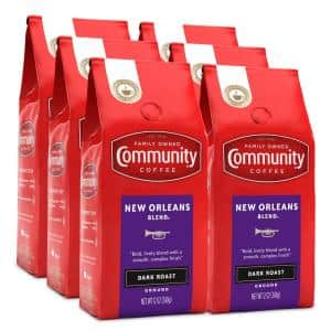 12 oz. New Orleans Blend Special Dark Roast Premium Ground Coffee (6-Pack)