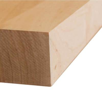 Finished Maple 2.5 ft. L x 25 in. D x 1.5 in. T Butcher Block Countertop with Square Edge