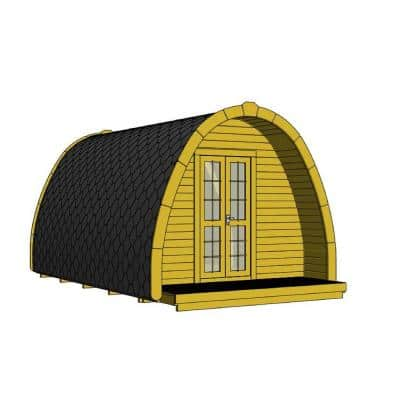 Non Professionally Installed Campers Pod D 10 ft. W x 13 ft. D Pod Style Log Cabin Kit