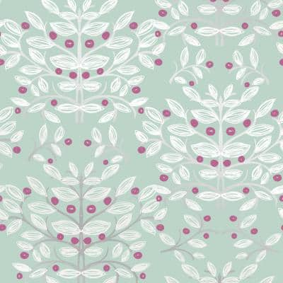 Kristofer Mint Botanical Paper Strippable Wallpaper (Covers 56.4 sq. ft.)