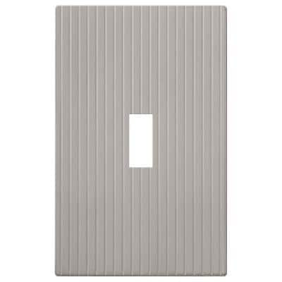 Mies 1 Gang Toggle Metal Wall Plate - Satin Nickel