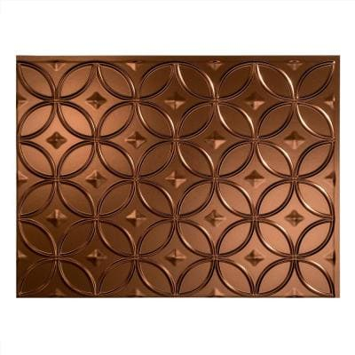 18.25 in. x 24.25 in. Rings Vinyl Backsplash Panel in Oil Rubbed Bronze (5-Pack)