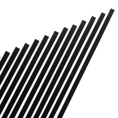 32 in. x 1 in. Black Aluminum Rectangular Baluster (14-Pack)