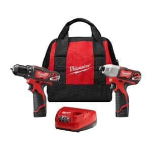 M12 12-Volt Lithium-Ion Cordless Drill Driver/Impact Driver Combo Kit w/ Two 1.5Ah Batteries, Charger Tool Bag (2-Tool)