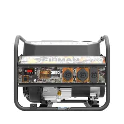 Performance Series 4,550/3,650-Watt Gas Powered Portable Generator with Recoil Start 208cc Engine, RV Ready Outlet CAMO