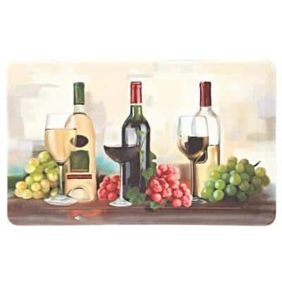 Rofino Wine Trio Multi 18 in. x 30 in. Kitchen Mat