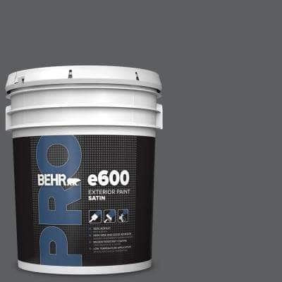 5 gal. #N500-6 Graphic Charcoal Satin Exterior Paint