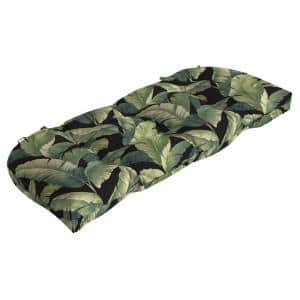41.5 in. x 18 in. Onyx Cebu Countoured Tufted Outdoor Bench Cushion