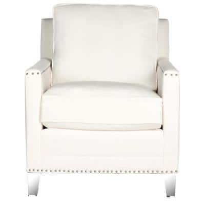 Hollywood White/Clear Accent Chair