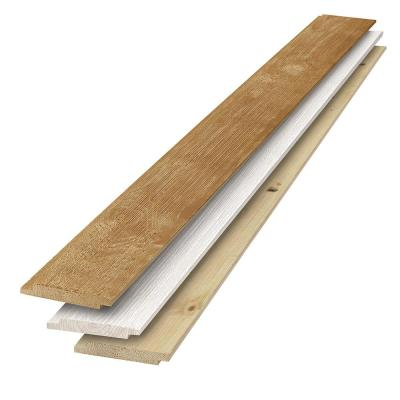 1 in. x 6 in. x 6 ft. Barn Wood Light Brown-Tone Multicolor Shiplap Kit (6-Pack)