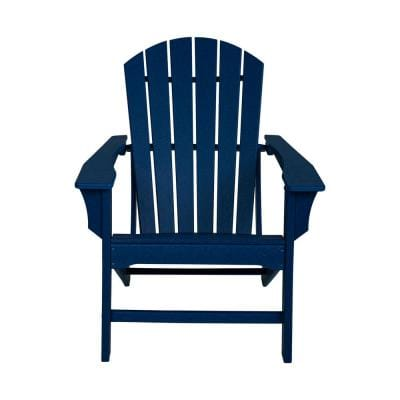 Navy Blue HDPE Plastic Adirondack Chair