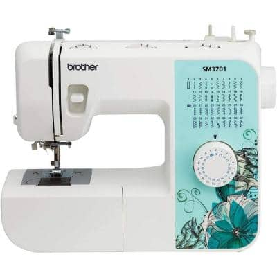 37-Stitch Portable Electric Sewing Machine with 74 Stitch Functions