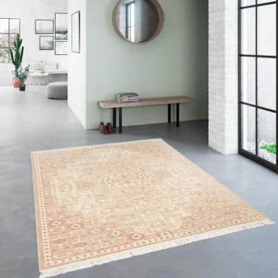 Rosemarie Pink 5 ft. x 7 ft. Traditional Persian Area Rug