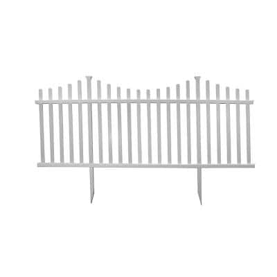 42 in. H x 92 in. W Manchester Semi-Permanent Vinyl Fence Panel Kit (2-Pack)