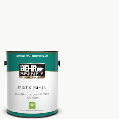 1 gal. Ultra Pure White Semi-Gloss Enamel Low Odor Interior Paint & Primer