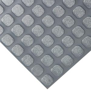 ''Block-Grip'' 4 ft. x 4 ft. Dark Gray Commercial PVC Flooring