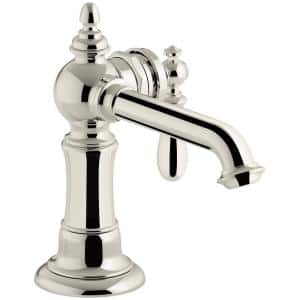 Artifacts Single Hole Single-Handle Bathroom Faucet in Vibrant Polished Nickel