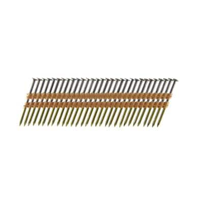 3-1/2 in. x 0.131 Plastic Collated Bright Smooth Shank Framing Nails (500 per Box)
