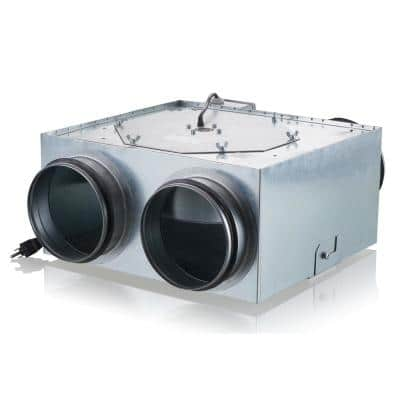 240 CFM Power 5 in. Centrifugal In-Line Ventilation Fan with Two 5 in. Inlet and One 5 in. Outlet