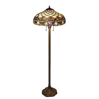 Tiffany Baroque 60 in. Bronze Floor Lamp