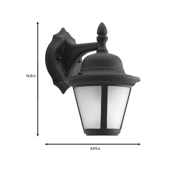 Progress Lighting Collection 1-Light Outdoor 6/'/' Textured Black LED Wall Lantern
