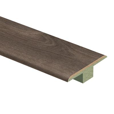 Warm Grey Oak 7/16 in. Thick x 1-3/4 in. Wide x 72 in. Length Laminate T-Molding