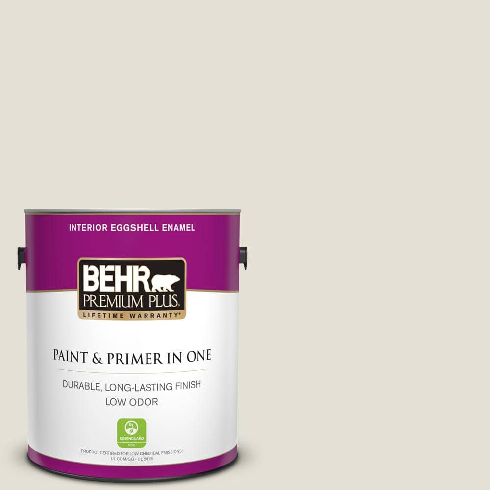 Behr Premium Plus 1 Gal T18 09 Soft Focus Eggshell Enamel Low Odor Interior Paint And Primer In One 205001 The Home Depot