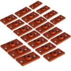 Rod Hanger Plate in Copper Epoxy Coated Iron in for 3/8 in. Threaded Rod (20-Pack)