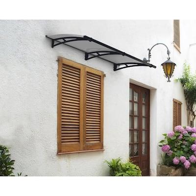 Aquila 3 ft. x 7 ft. Gray/Solar Gray Door and Window Awning
