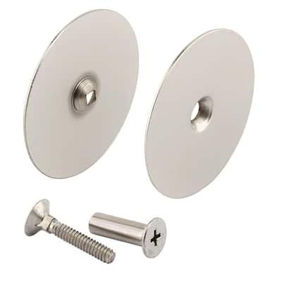 Door Hole Cover Plate, 2-5/8 in. Diameter, Satin Nickel