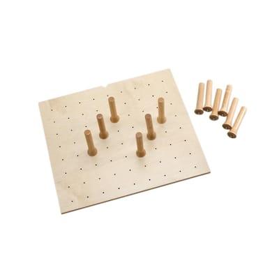 0.62 in. H x 24.25 in. W x 21.25 in. D Small Wood Peg Board Drawer Insert