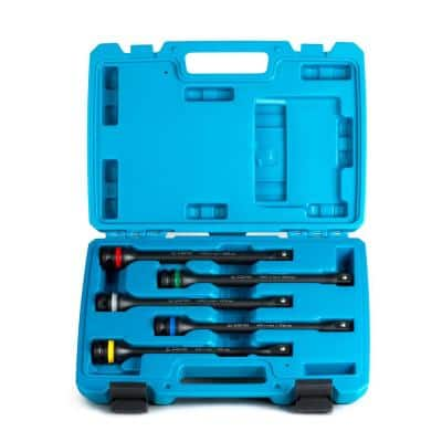 1/2 in. Drive 65 to 140 ft. lbs. Torque Limiting Extension Bar Set (5-Piece)